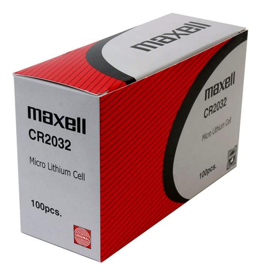 Bateria Maxell Cr2032 Caixa C/ 100 Unidades Originais