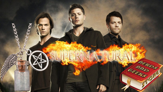 Supernatural - Pentagrama - Asas Anjo Castiel - Sal Grosso