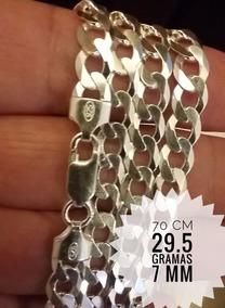 Corrente Cordão Prata 925 Italiana Grumet 29.5g 7mm 70cm