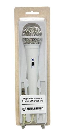 Microfone Com Fio De Mão Unidirecional Waldman