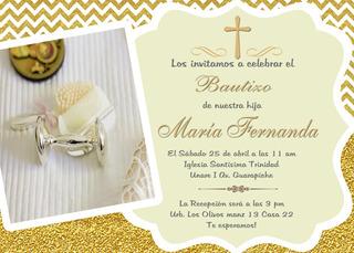 Bautizo Tarjeta Invitación Digitales Personalizadas Bautizo