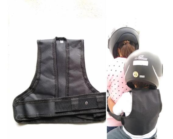 Colete Cinto Segurança Infantil Para Moto Preto