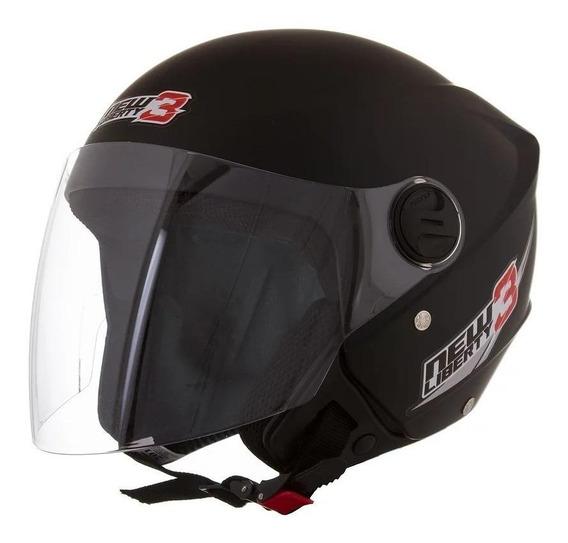 Capacete para moto aberto Pro Tork New Liberty Three preto-fosco S