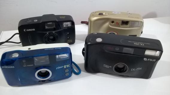 Câmeras Analógicas Canon Samsung Fuji Makica Lote Com 4 Un.