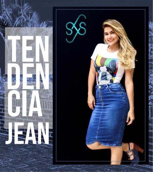 Faldas De Jean 3/4 Para Mujer Cristiana
