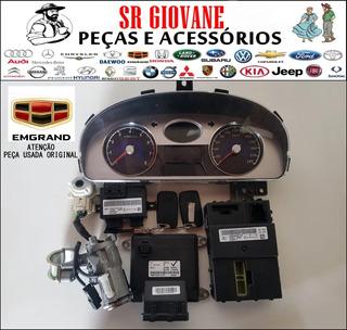Kit Chave Módulo Injeção Geely Ec7 2014 1.8 16v Completo