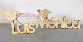 Letrero De Graduación De 3 A 7 Letras Mdf 5 Mm