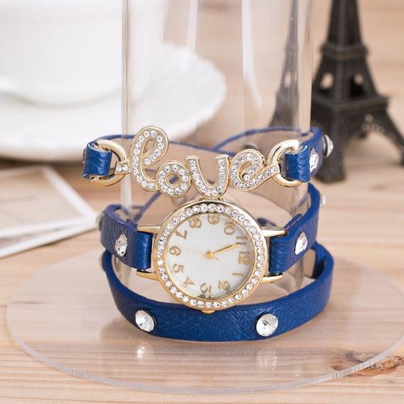 Relógio Feminino Pulseira Love.pronta Entrega.varias Cores