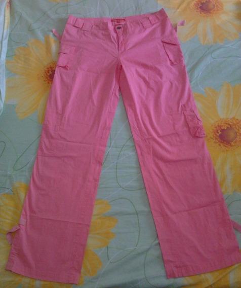 Pantalon Casual Rosado Dama Talla Plus L 13/14 En 8 Verdes
