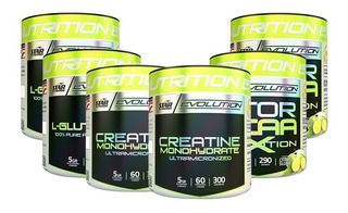 Creatina X2 + Glutamina X2 + Mtor Bcaa Evo X2 Star Nutrition