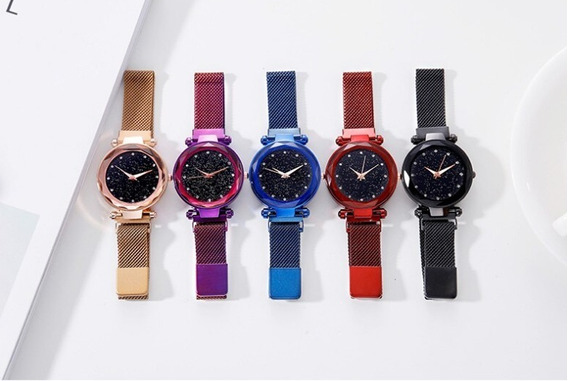 5 Relógio Feminino Céu Estrelado