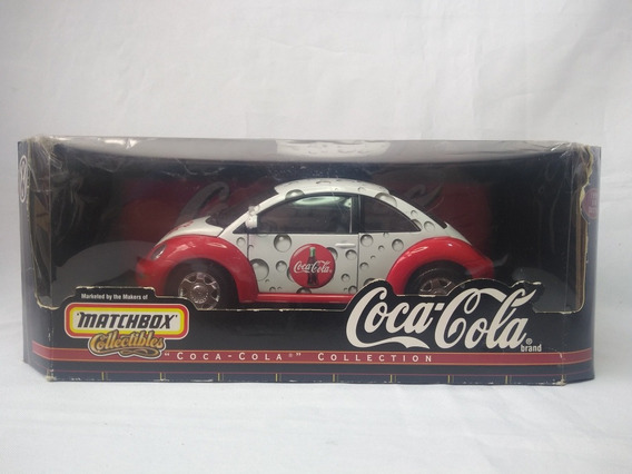 Fusca Vw New Beetle 1999 Coca Cola Miniatura 1/18 Matchbox