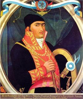 Lienzo Tela José María Morelos Y Pavón Con Uniforme 70x83cm