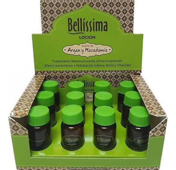 Ampollas Capilares Bellissima Locion Aceite Argan Y Macadamia X12