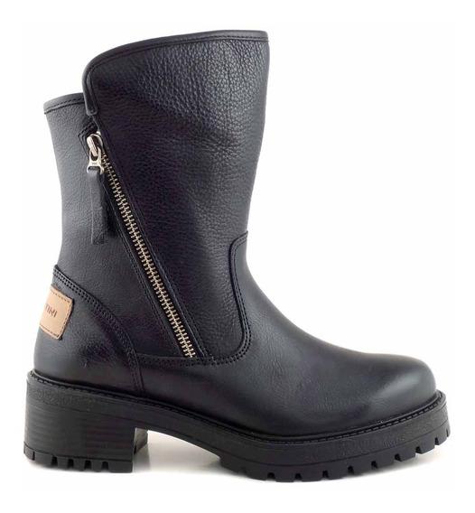 Botas Mujer Botineta Cavatini Zapatos Cuero Goma - Mcbo24891