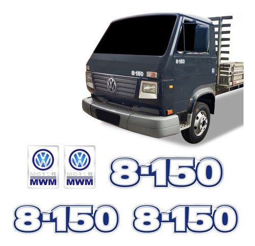 Kit Adesivos 8-150 Emblemas Caminhão Mwm Volkswagen Resinado