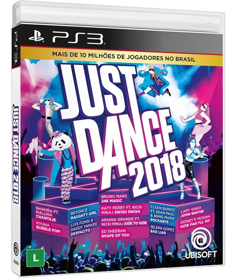 Just Dance 2018 Midia Fisica Original Novo Lacrado Ps3 - Nf
