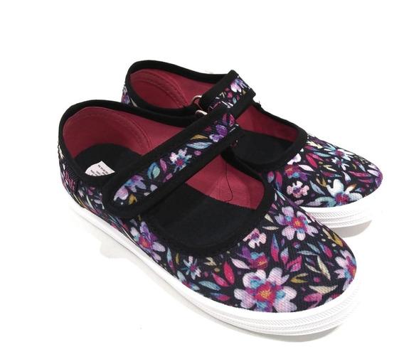 Zapatos Zapatillas Panchas Guillerminas De Lona Niña Nena Moda Verano
