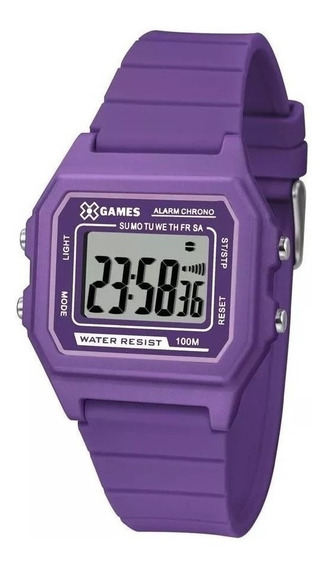 Relógio X-games Feminino Digital Roxo Xlppd030bxux