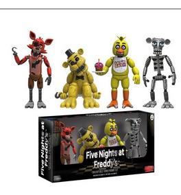 4 Bonecos Fnaf Foxy, Golden, Animatronic, Chica - Imediato
