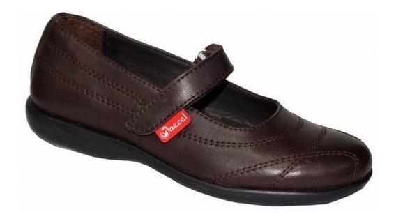 Zapatos Colegiales Escolares De Cuero Marcel Del 27 Al 40
