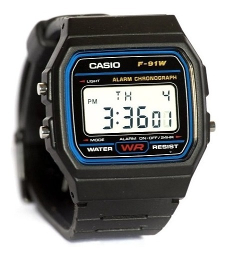 Relogio Casio F-91w Digital Unissex Retrô Vintage Origin F91