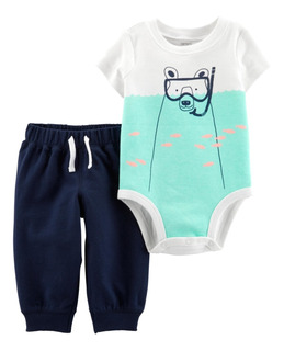 Carters Conjunto 2 Piezas Body Pantalon Bebe Varon 12 Meses