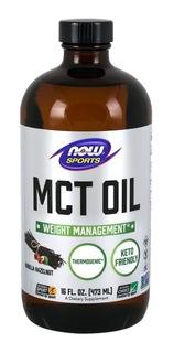 Mct Oil Baunilha C8 E C10 473ml Now Sports