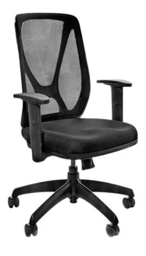 Silla de escritorio Baires4 Ergonómico Alma ergonómica  negra con tapizado de mesh y marathon