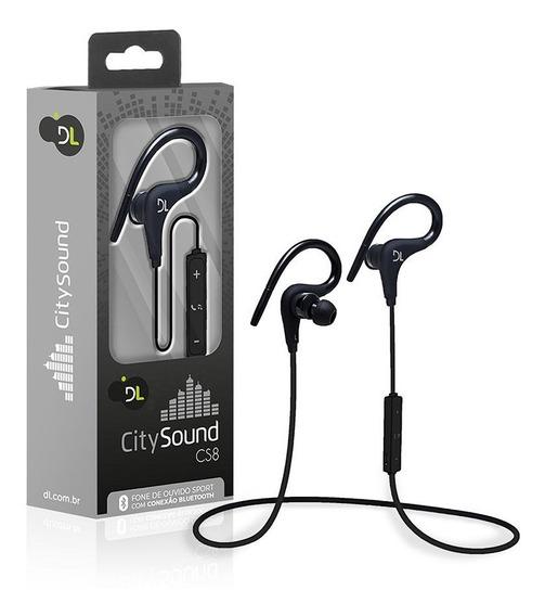 Fone De Ouvido Bluetooth Dl Citysound Cs8 Sport, Preto