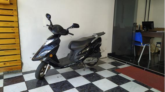 Suzuki Burgman 125i 2012 Preta Tebi Motos