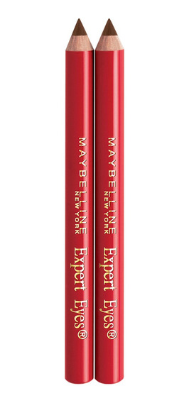 Lápiz De Cejas Y Ojos Expert Wear Twin Maybelline Dark Brown