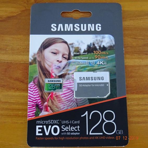Cartão Sdxc Samsung Evo Select 128gb - Classe 10, Cat 3, 4k