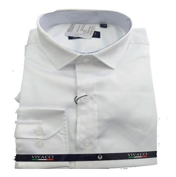 Camisa Branca Detalhada Vivacci Super Promoção Jjota