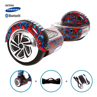 Hoverboard Skate Elétrico Roda 6,5 Homem Aranha Samsung