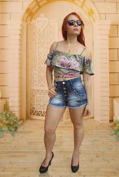 Short Jeans Cintura Alta Tamanho 36