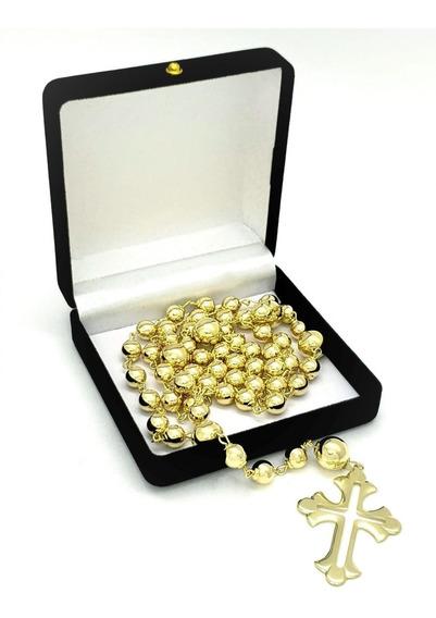 Terço De Noiva Luxo Casamento Matrimonio Banho Ouro 18k 4509