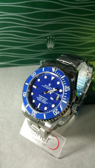 Reloj Submariner Color Azul, Con Plata, Envìo Inmediato