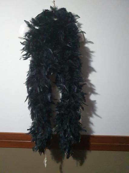 Boa De Plumas Negras Longitud 160cms (clb)