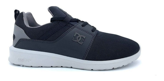 Tênis Dc Shoes Heathrow Preto/cinza Black Armor