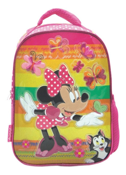 Mochila Espalda Jardin 3d Disney Minnie Original Mundomanias