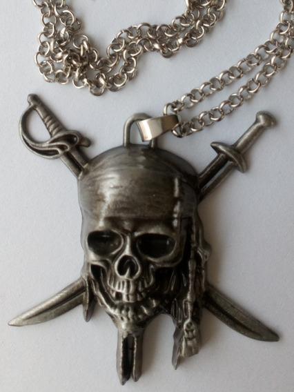 Collar Calavera Piratas Del Caribe