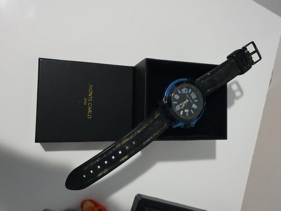 Relógio Analógico Monte Carlo Azul