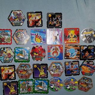 Conjunto De Tazos Raros Elmachips Lote Dragon Ball Pokemon
