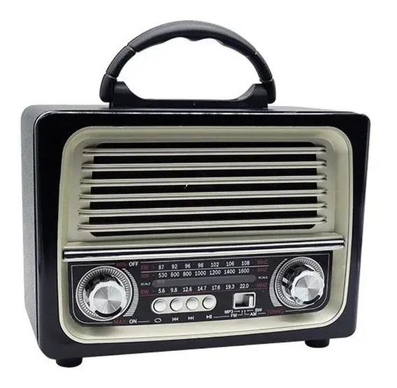Caixa De Som Retro Ótima Recepção Rádio Fm Am Vintage C/ Nf