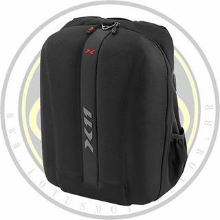 Mochila X-11 Hardcase Capa Chuva Capacete Notebook Com Nota