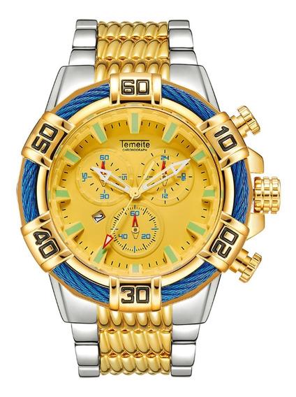 Relógio Temeite Original Big Dial Pronta Entrega