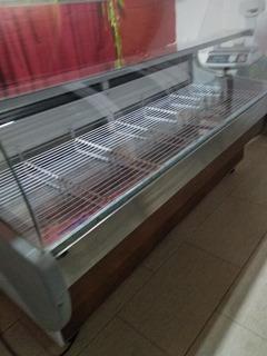 Heladera Mostrador Batea Vidrio Curvo Para Granja Carniceria
