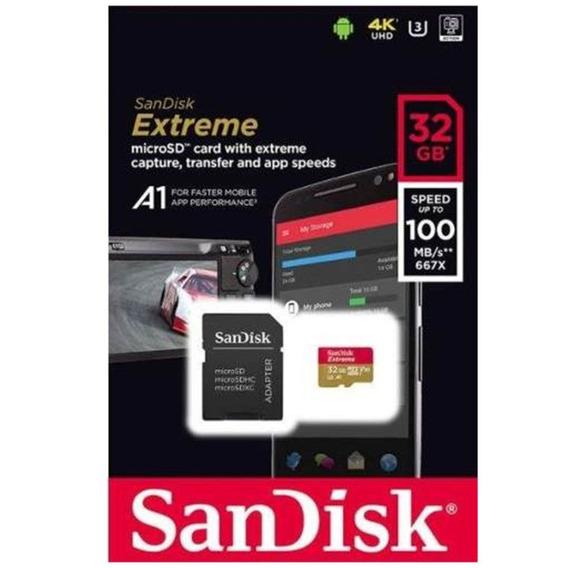 Cartão Microsd 32gb Sdx-uhs Sandisk Extreme Gopro 23456