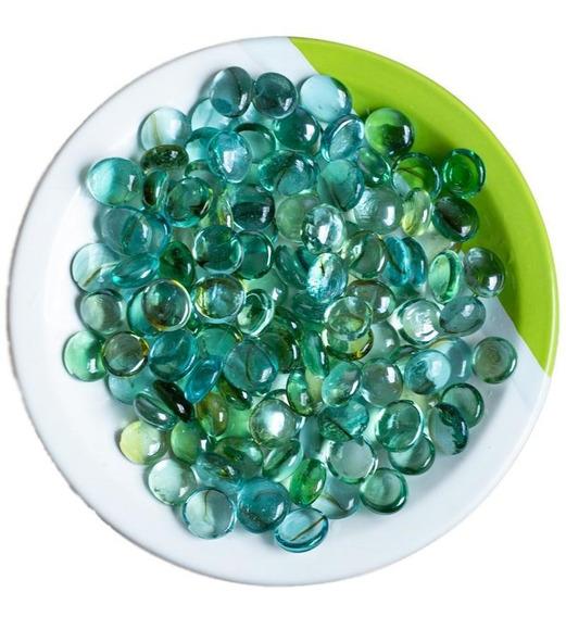 Gema Vidro Pedra Vaso Aquarío- Azul Mista - 500g/130 Unid